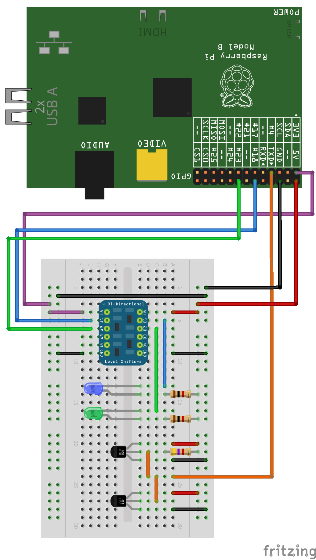 Raspberry Pi Tiny Gadgets B Circuit Diagram There Are A Few Things To Note About This Slightly More Complex Schematic